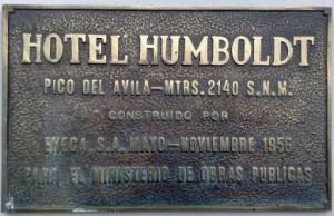 Hotel Humboldt. Patrimonio arquitectónico de Venezuela.