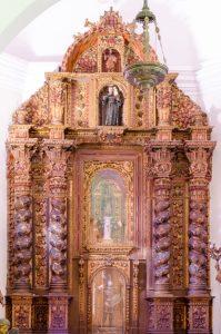 Retablo de la Capilla Nuestra Señora del Pilar, Catedral Metropolitana de Caracas, fotografía Luis Chacín, 2018.