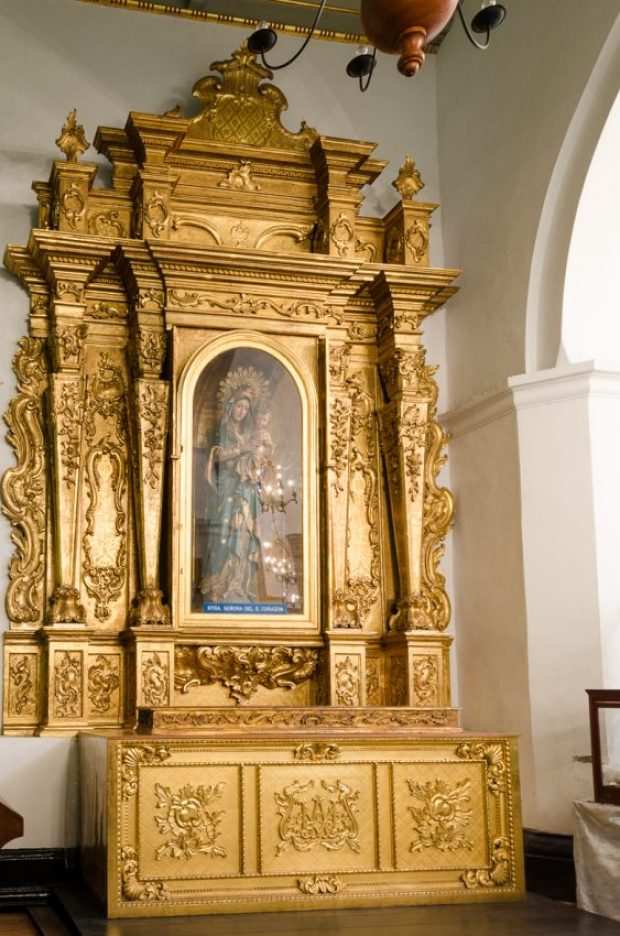 Capilla de San Pedro, altar de Nuestra Señora del Sagrado Corazón. Catedral de Caracas, Fotografía Luis Chacín, 2018.
