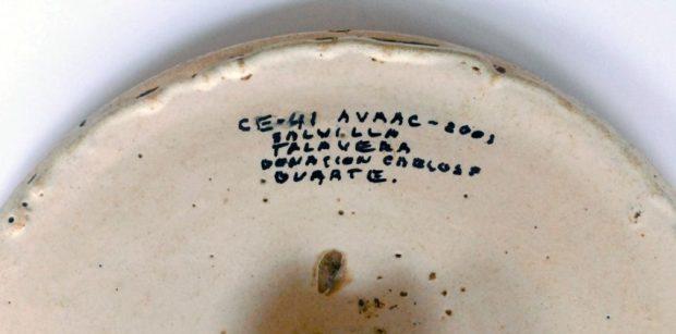 Salvilla de Talavera de la Reina, Toledo, España. Colección de cerámica española del Museo de Arte Colonial de Caracas, o Quinta de Anauco. Patrimonio cultural de Venezuela.
