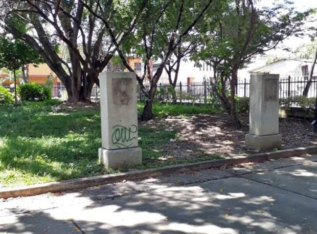 La mafia del bronce también devasta la estatuaria broncínea de Valencia, estado Carabobo. Patrimonio cultural de Venezuela en peligro.