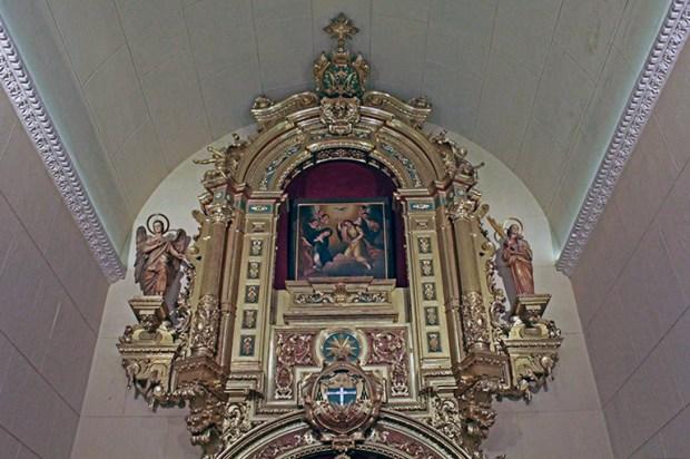 El elaborado retablo colonial de la Catedral de Valencia, Carabobo. Foto Orlando Nano Baquero, agosto 2018.