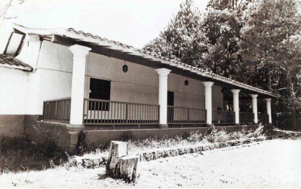 Casona de la hacienda La Isla, sede de la biblioteca entre 1978 y 1994. Foto Colección Biblioteca Febres Cordero, Mérida-Venezuela. Dig. BFC.