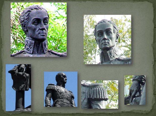 Detalles de la estatua de El Libertador de Lobatera, Táchira. Fotos Samir Sánchez, 2009.