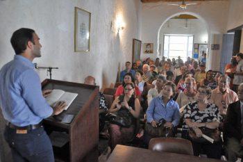 El libro de Rubén Contreras fue presentado en la Sociedad Bolivariana de La Guaira. Foto Cruz Sojo, 2018.