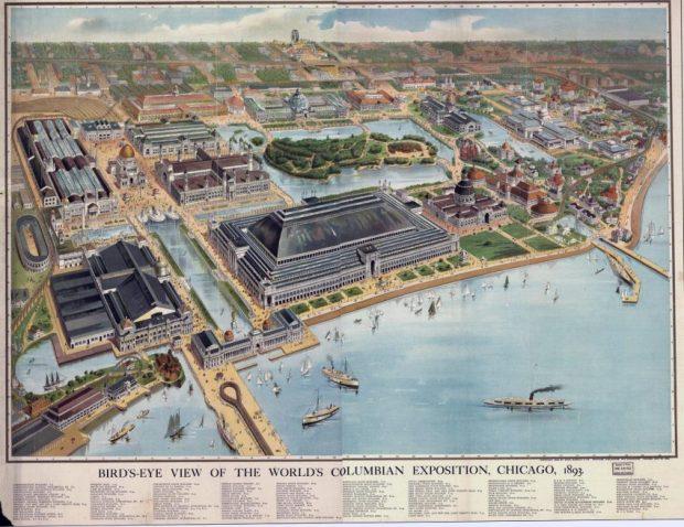 Gran Exposición Universal de Chicago, 1893. Foto Rand, Mc Nally Publishers, Printers, 1893. rlv.zcache.com.