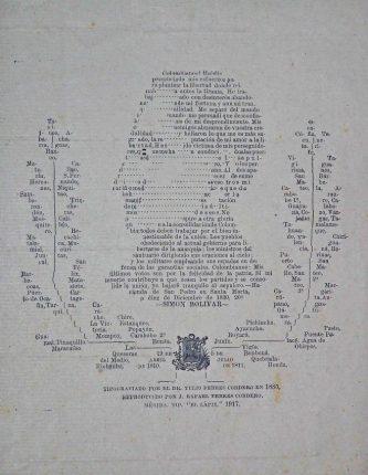 Imagotipia de El Libertador realizado por Tulio Febres Cordero. Sección Audiovisual. Colección Biblioteca Febres Cordero, Mérida-Venezuela. Dig. BFC