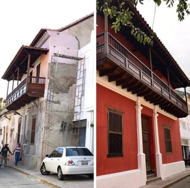 La transformación de La Guaira es posible. El Arq. Rubén Contreras lo prueba con la primera intervención urbana de este tipo en el casco histórico. Foto cortesía R. Contreras.