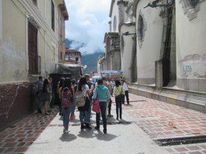 Recorrido por el lateral izquierdo de la Catedral Metropolitana. Mérida-Venezuela. Foto Samuel Hurtado Camargo, octubre 20 de 2018