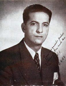 Tte. Andrés Roa Ramírez, quien obtuvo la donación de la estatua de El Libertador para la plaza Bolívar de Lobatera, en 1956. Foto