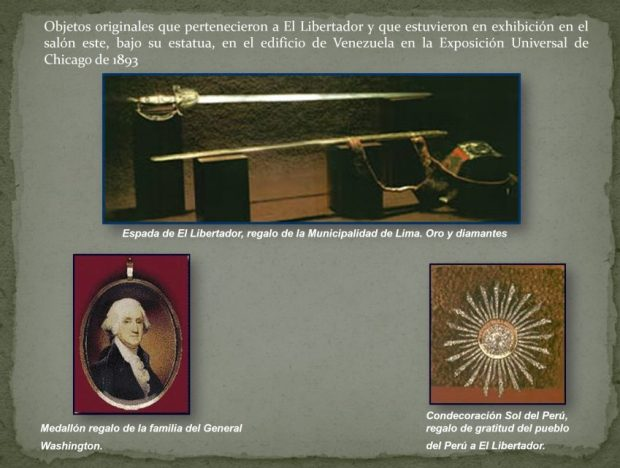 Venezuela Objetos exposición universal 1893