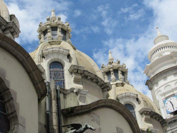 Vista de las cúpulas y cupulines de la Catedral Metropolitana. Mérida-Venezuela. Foto Samuel Hurtado Camargo, octubre 20 de 2018