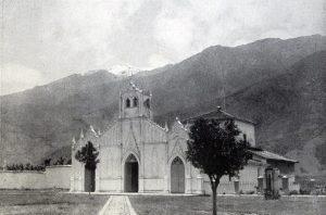 Iglesia Nuestra Señora de El Espejo en 1929. Foto Fernando Benet_Guía general de Venezuela.