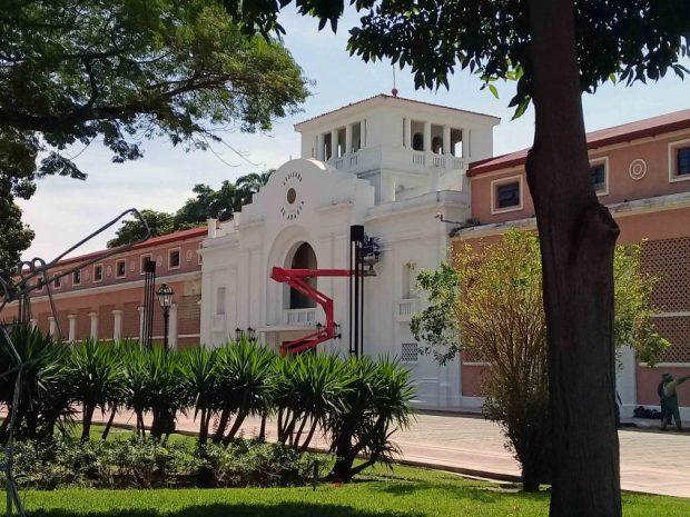 Trabajos en el histórico Hotel Jardín. Foto Alfredo Morales, noviembre 2018.