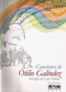 Portada del libro Canciones de Otilio Galindez