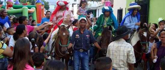 Los tres Reyes Magos en Venezuela. Foto Crespial.org