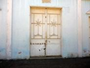 Parte de la fachada principal de la iglesia Nuestra Señora de los Ángeles. Bruzual, Apure. Foto Marinela Araque, enero de 2019.