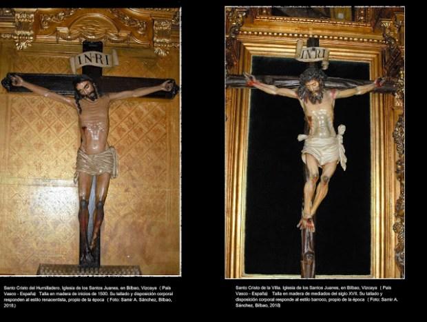 Comparación de Cristos renacentista y barroco