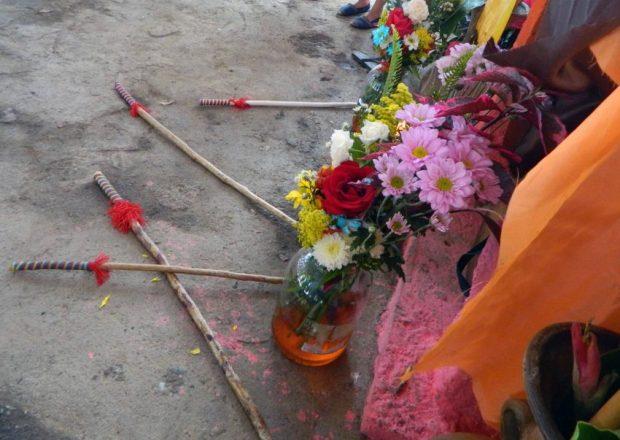 Garrotes en homenaje a San Antonio de Padua en tamunangue de Araure, Portuguesa. Foto Wilfredo Bolívar. Tamunangue o sones de negro entre Lara y Portuguesa. Patrimonio cultural de Venezuela.