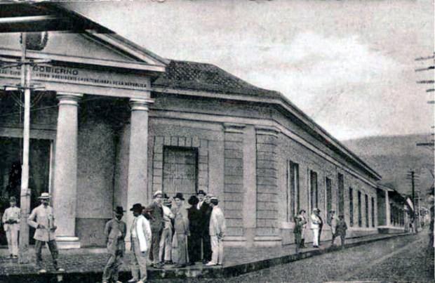 Palacio de Gobierno de la ciudad de San Cristóbal, actual esquina de la calle 4 con 5ª avenida.