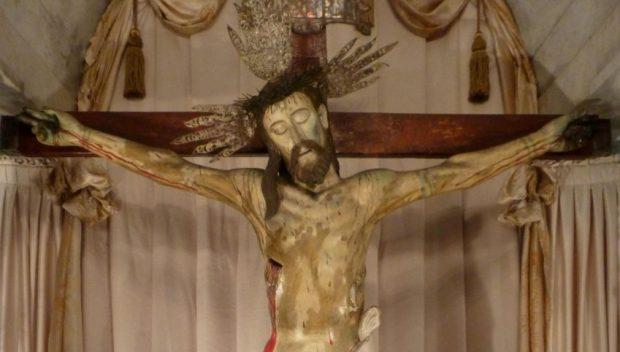 Sección frontal superior del Santo Cristo de La Grita, Táchira. Foto Miguel Ángel Márquez, 2013.