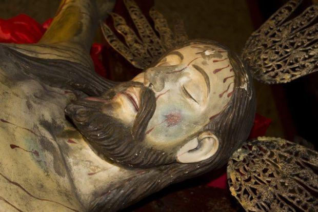 Sección lateral izquierda superior del Santo Cristo de La Grita, Táchira. Foto Abel Garardo Rodríguez, TRT, 2013.