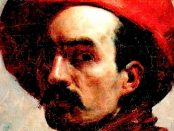 Autorretrato con sombrero Rojo (1887), de Cristóbal Rojas. Foto Wikimedia Commons, dominio público