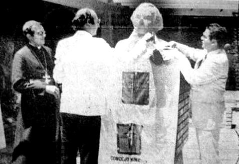 Monumento al general Francisco de Miranda, en Mérida. Patrimonio cultural de Venezuela. Desvelación del monumento al general Francisco de Miranda, Mérida. Foto Frontera, octubre de 1985. Dig. S. Hurtado