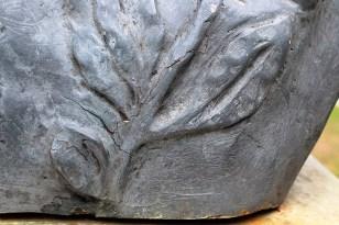 Monumento a El Libertador en el pico Bolívar de Mérida. Patrimonio cultural venezolano. Detalles de las fisuras que presenta el busto de El Libertador, Mérida. Foto Samuel Hurtado Camargo, marzo 3 de 2019