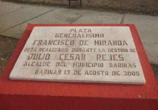 La plaza Miranda, en Barinas, se inauguró en 2005, en 2019 roban el busto del Precursor de la Independencia de Venezuela. Foto Marinela Araque, marzo 2019