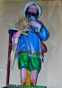 Imagen de San Isidro venerada en poblados de Monagas. Foto IPC