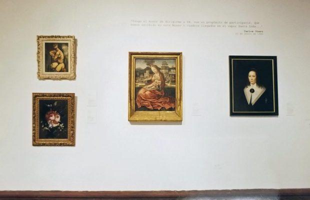 La Virgen de la Leche en la muestra Exposición Coleccionismo II. Documentos y relatos. De cara a un nuevo tiempo (1938-1959). Foto Luis Chacín.