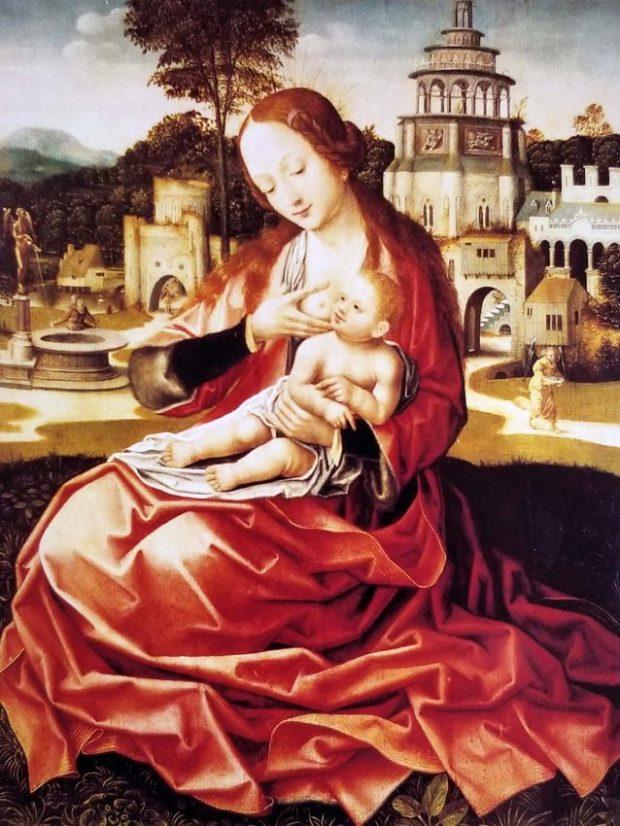 La Virgen de la leche, colección del Museo de Bellas Artes de Caracas.