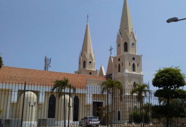 Parte lateral de la iglesia San Rafael, de El Moján. Municipio Mara, estado Zulia. Foto Marinela Araque, marzo 2019.