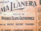 El Alma llanera, joropo urbano de Pedro Elías Gutierrez y Rafael Bolívar Coronado. Foto TW @CculturalChacao