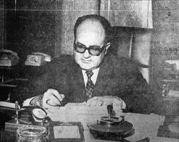 Germán Briceño Ferrigni fue uno de los principales promotores del turismo en el estado Mérida. Foto El Vigilante, 12-8-1972. Dig. Samuel Hurtado C.