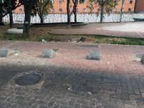 La estructura construida del bosque urbano El Porvenir empieza a sufrir deterioro. Se observa basura en los espacios verdes. Foto Armando Báez, abril 2019.