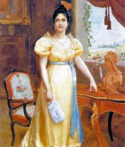 Luisa Cáceres de Arimendi, óleo del pintor Emilio Jacinto Mauri (1858-1908). Colección Asamblea Nacional.