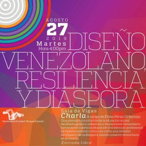 Anuncio de la charla diseño venezolano