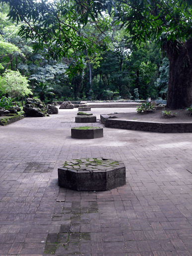 Columnas octogonales que sostenían el techo del templo. Foto MIldred Maury.