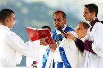 Misa solemne en el estadio por la Serie del Caribe 2010. Foto Carlos E. Ramírez