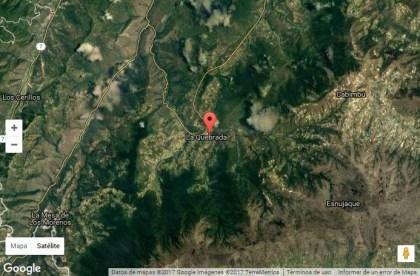 La Quebrada es una encrucijada en el paisaje montañoso de Trujillo. Foto Google. Dig. Nilda Silva.