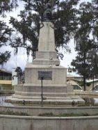 Vista del lateral derecho del monumento Páez. Foto Samuel Hurtado C.