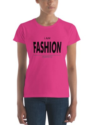 i AM Fashion Light Ladies Ringspun Fashion Fit T-Shirt with Tear Away Label