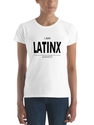 i AM Latinx Ladies Ringspun Fashion Fit T-Shirt with Tear Away Label