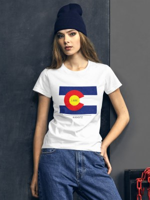 i AM Colorado Ladies Ringspun Fashion Fit T-Shirt with Tear Away Label