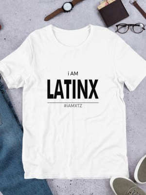 i AM Latinx Light Unisex Short Sleeve Jersey T-Shirt with Tear Away Label