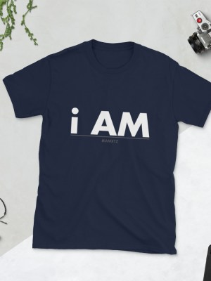 i AM Dark Short-Sleeve Unisex T-Shirt