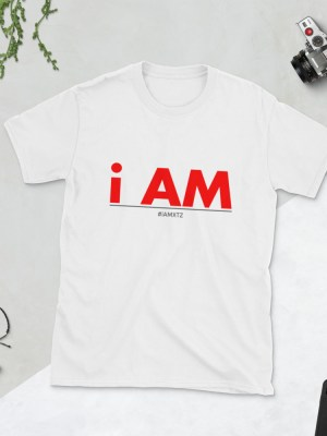 i AM Red Lettering Short-Sleeve Unisex T-Shirt