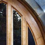 Detail of oak door made for All Saints' Church, Kirkby Overblow, North Yorkshire. copy